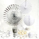 Classic white and metallic silver party decoration collection