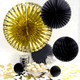 Stylish black and gold metallic party decoration collection