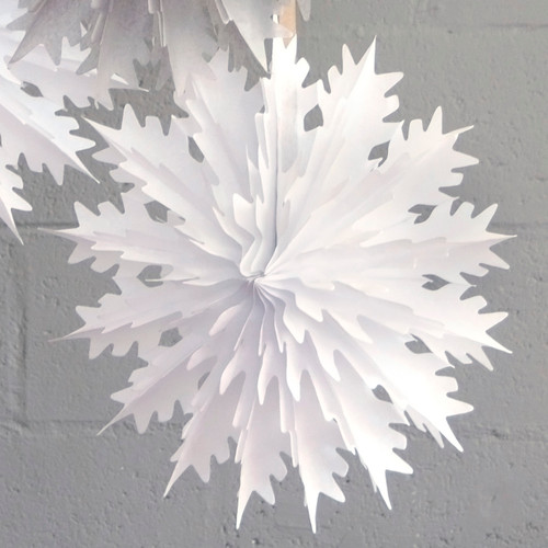 Intricate white snowflake Christmas decoration for modern and stylish decor in your home