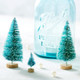 Small decorative bottle brush sisal Christmas trees