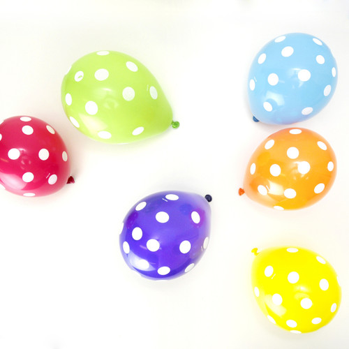 Mini Polka Dot Rainbow Party Balloons