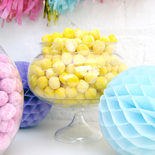 Round pedestal sweets jar for party dessert tables, candy buffets, wedding sweet displays