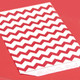 Red Chevron Print Paper Party Bags