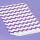 Purple Chevron Print Paper Party Bags