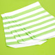 Green Stripe Paper Party Bags