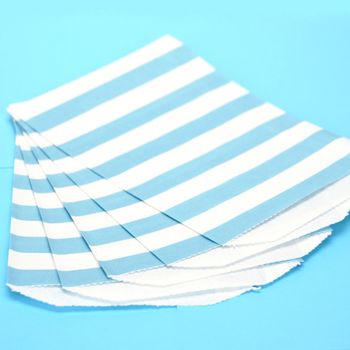 Blue Stripe Paper Party Bags