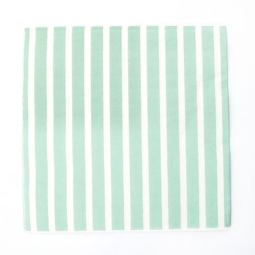 Mint Stripe Paper Party Napkins