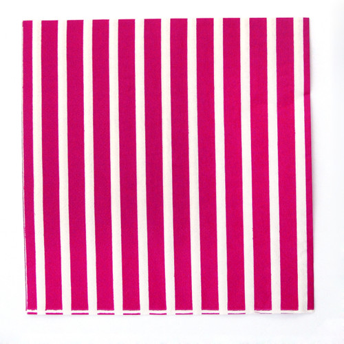 Dark Pink Stripe Paper Party Napkins