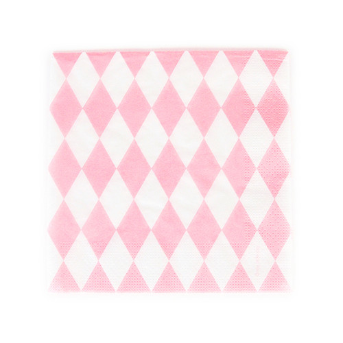 Pink Diamond Paper Party Napkins