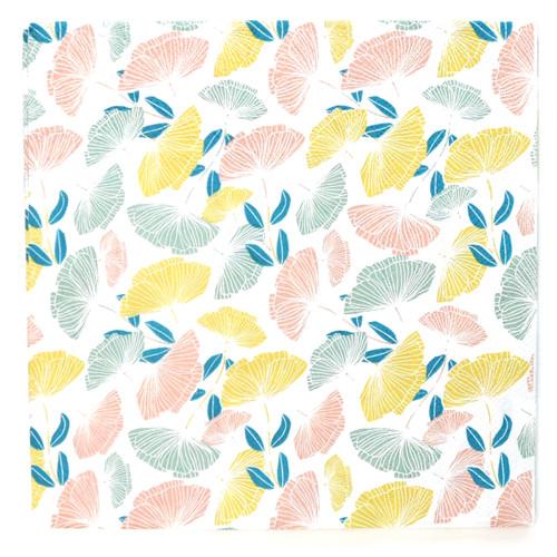 Floral Print Paper Party Napkins