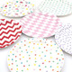 Stylish and modern party paper plates