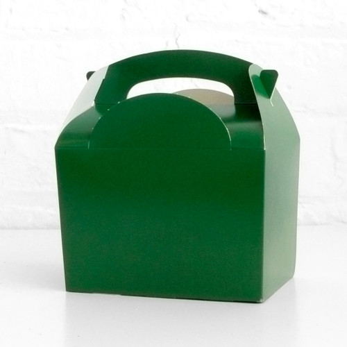 Dark green food treat box for birthday party snacks, picnics, goodie bags, gifts and street food.