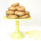 Yellow Milk Glass Cake Stand