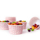 Pink Polka Dot Party Serving Cups for ice cream, snacks, treats and nibbles