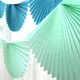 Mint Paper Fan Garland Bunting Decoration for Birthday Parties, Weddings, Baby Showers and Hen Dos