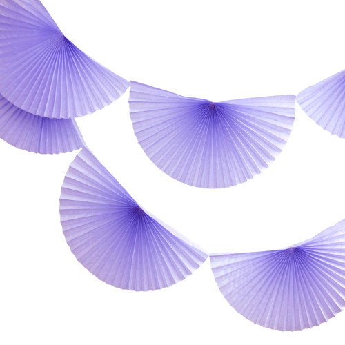 Lavender Paper Fan Garland Bunting Decoration for Birthday Parties, Weddings, Baby Showers and Hen Dos