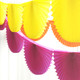 Paper Fan Garland Bunting Decoration for Birthday Parties, Weddings, Baby Showers and Hen Dos