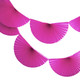 Dark Pink Paper Fan Garland Bunting Decoration for Birthday Parties, Weddings, Baby Showers and Hen Dos