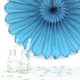 Turquoise Deluxe Tissue Paper Fan Decoration for Birthday Parties, Weddings, Baby Showers and Hen Dos