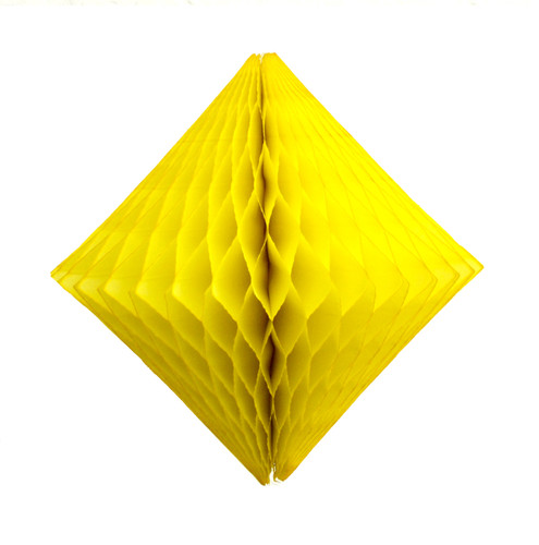 Yellow Paper Diamond Geometric Decoration for Birthday Parties, Baby Showers, Weddings and Dessert Tables