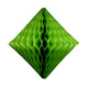 Green tissue paper diamond geometric decoration for kids birthday parties, weddings, dessert table displays and hen dos.