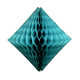 Teal tissue paper diamond decoration for kids birthday parties, weddings, dessert table displays and hen dos.