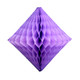 Lavender tissue paper diamond decoration for kids birthday parties, weddings, dessert table displays and hen dos.