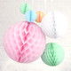 Pink and Pastel Tissue Paper Honeycomb Ball Pom Pom Decoration