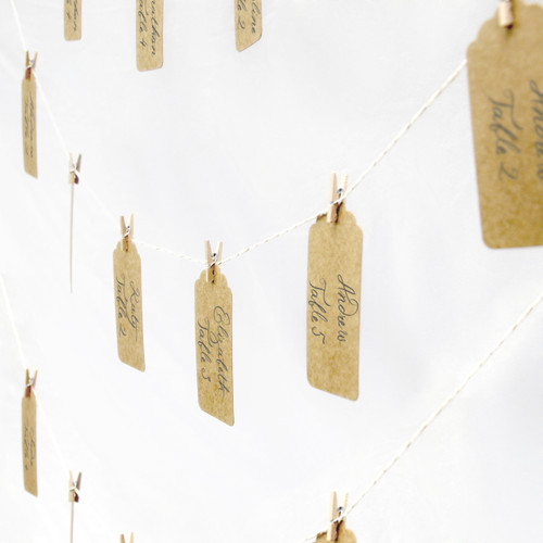 Wedding Table Seating Plan Twine And Peg Set