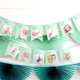 Custom first birthday memory garland decoration