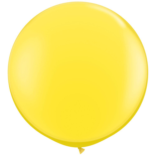 Big yellow balloon party decoration for birthdays, weddings, photo booth backdrops, anniversaries, baby showers, hen parties.