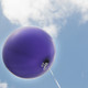 Big purple balloon party decoration for birthdays, weddings, photo booth backdrops, anniversaries, baby showers, hen parties.