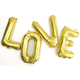 Love Metallic Letter Balloons