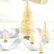 Small Cream Christmas Bottle Brush Trees