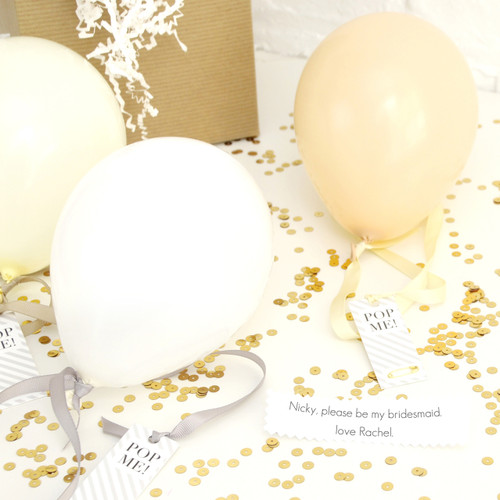 Personalised 'Will You Be My Bridesmaid?' Balloon Gift