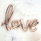 Metallic Copper Love Text Balloon