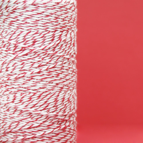 Cherry Red Bakers Twine made of cotton for Gift Wrap, Favours and Craft Projects