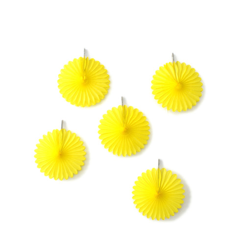Yellow Paper Fan Set Party Decorations