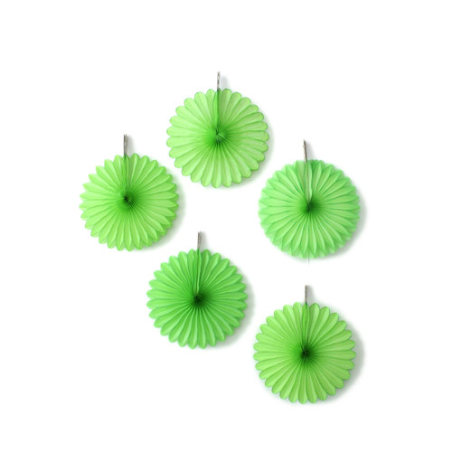 Green Paper Fan Set Party Decorations