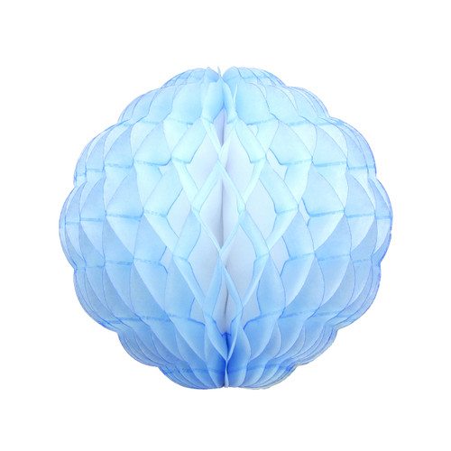 Blue Tissue Paper Honeycomb Pom Pom Decoration