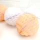 Peach and White Paper Honeycomb Pom Pom Decorations
