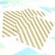 Gold diagonal stripe paper party bags for wedding favours and goody bags