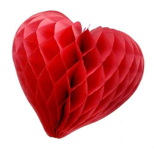 Beautiful red paper heart decoration for weddings and hen parties