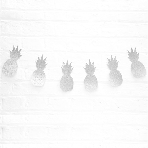 Silver Glitter Pineapple Garland Decoration