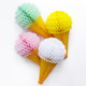 Ice Cream Cone Paper Honeycomb Party Decoration