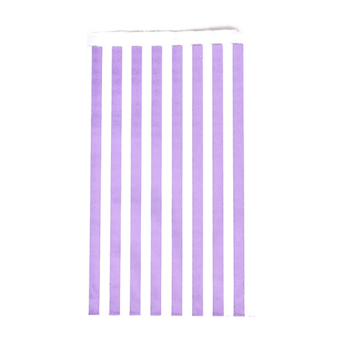 Premium quality and stylish purple stripe paper party bags for childrens birthdays, wedding favours, sweet tables and hen parties