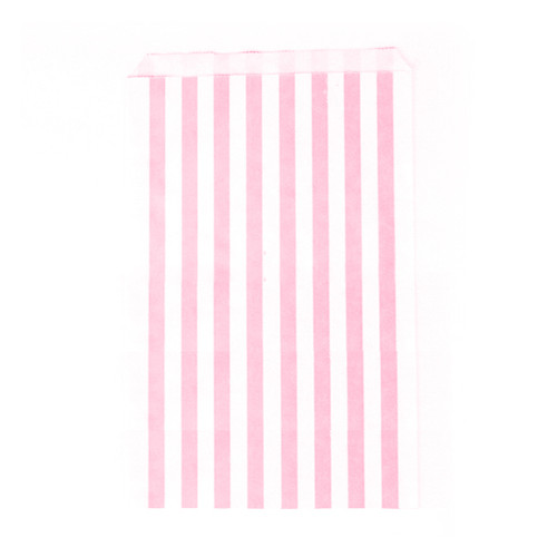 Premium quality and stylish light pink paper party bags for childrens birthdays, wedding favours and sweets tables