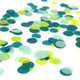Green tissue paper confetti for birthday parties, weddings and tropical celebrations