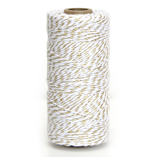 Gold glitter twine bakers twine for wedding favours, craft projects and gift wrap