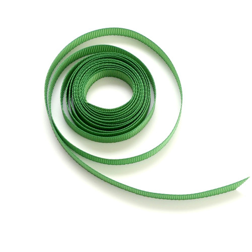 Green luxury grosgrain ribbon for wedding favours, craft projects and gift wrap